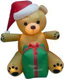 Modèle de publicité gonflable géant de dessin animé (arbre de bonhomme de neige, de père noël, de Noël, ours)