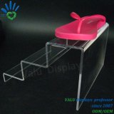 En acrylique transparent de chaussures en deux étapes, des chaussures d'affichage affichage rack statif