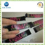 Le satin fait sur commande de vêtement de qualité tissé étiquette le R-U (JP-CL049)