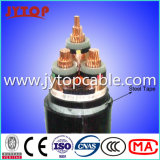 Stahldraht-gepanzertes Kabel 3X95mm des Kabel-11kv