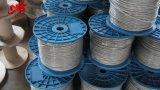 Corde galvanisée enduite par PVC neuve de fil d'acier du blanc 6X19 3.18mm pour la ferme