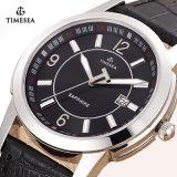 Mens de montre de quartz d'acier inoxydable de montres de mode et montre de dames avec le cuir Band72193
