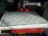 6mm 10mm cercle imprimé coloré les protecteurs de plateaux de table en verre trempé un verre de sécurité