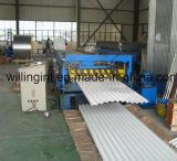 El panel de pared de acero que hace la máquina lamina anterior