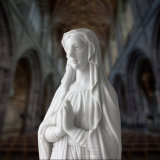 Statue de marbre Hand-Carved St Mary, Sculpture religieuse T-6403