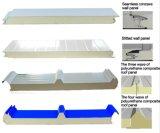 45kg/M3 높 조밀도를 가진 싼 Price Quality Polyurethane Foam Sandwich Panel