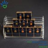 Rek van de Vertoning van het Nagellak van de Drogisterij van het Kabinet van de Sigaret van de Opslag van het Gemak van de supermarkt het Acryl
