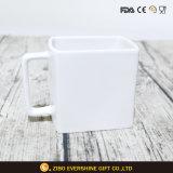 Tasse à café en porcelaine blanche Tasse en céramique carrée
