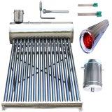 Calefator solar de calefator de água da câmara de ar de vácuo do aço inoxidável de baixa pressão/de água energia solar