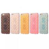 Hielo colorido suave grabado en el caso de TPU para iPhone