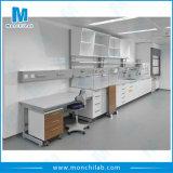 Schule-Chemie-Laborprüftisch mit Reagens-Regal