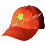 Chapeau orange au néon de broderie promotionnelle de base-ball