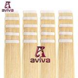 Aviva 20pouces couleur blonde cheveux humains vierge double côté humain de bandes de PU Hair Extension