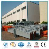 Construction industrielle d'atelier d'entrepôt de structure métallique de poutre en double T