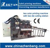 Máquina de impresión Flexo dos pegatinas de color