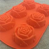 Rose Shape Food Grade Gâteau en silicone Moule au chocolat