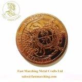 Ricordo su ordinazione all'ingrosso del metallo prezioso 2 monete dello stagno del rame della replica degli euro