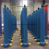 Cilindro hidráulico da estrutura do material do corpo de aço e do cilindro do pistão