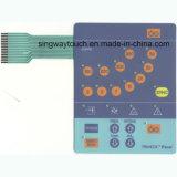 촉감 돔을%s 가진 LEDs 막 스위치 통제 키패드 키보드는 돋을새김한다