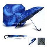 濃紺カラーとの間レースの端の美しくまっすぐな傘