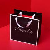 Papel negro Bolsa de compras para el envasado de regalo o vestido de novia