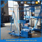 Les mâts double plate-forme de travail de l'antenne en aluminium avec une Capacité 200kgs
