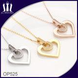 Diseño OEM Amante Corazón de Oro Bisutería con diamante