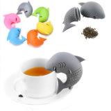 Tè sveglio Infuser del silicone del commestibile di figura dello squalo dello strumento della cucina
