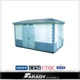 De kiosk prefabriceerde de Compacte Transformator van het Pakket van de Olie van het Hulpkantoor 2000kVA