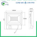 Indicatore luminoso di inondazione esterno di alta qualità LED con il sensore di movimento 50 watt