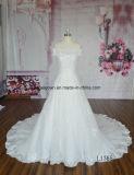 Vestido largo de hombro con encaje de encaje Abito Da Matrimonio