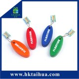 Unità di elaborazione di marchio personalizzata catena del metallo di promozione che fa galleggiare Keychain