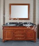 A madeira maciça armário de casa de banho com espelho no Frames tipo clássico mobiliário de Banho