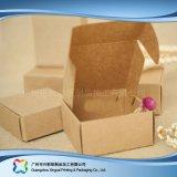 Het vlak Ingepakte Document van kraftpapier Vouwend het Verpakkende Vakje van de Gift van Juwelen (xc-pbn-021A)