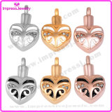 Ashes Jewellery Rose Gold Heart Pingentes com cristais Ijd9660