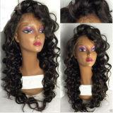 Brasilianische Karosserien-Wellen-reale Haar-Spitze-Perücken