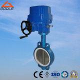 Tipo concêntrico de wafers de regulação eléctrica do banco de PTFE válvula borboleta (D971F)