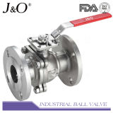 Válvula de esfera 2PC com extremidade flangeada com almofada de montagem direta DIN Pn16 Pn40