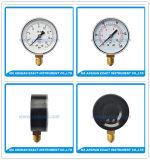 Indicateur de pression principal en acier Mesurer-Noir d'essai de Manometre-Air de pression inférieure d'entrée