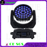RGBWのズームレンズ36X10W 4in1 LEDの移動ヘッド洗浄ライト