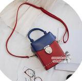 Borsa di vendita popolare di scontro di colore dei sacchetti di spalla della casella di stile di modo con fissato per le signore Sy8123