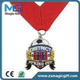 Vendas quentes medalha de cobre antiga personalizada do metal 3D