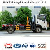 900kg 탑재량 Shacman 유로 5 훅 팔 드는 유형 쓰레기 트럭