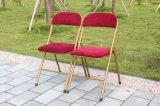 Metal almofadada cadeira dobrável para cadeira de restaurante