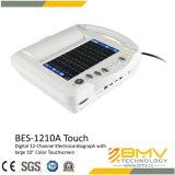 Eletrocardiógrafo digital de 12 canais de tela sensível ao toque colorido