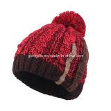 Dernier chapeau et capuchon en tricot personnalisé d'hiver, chapeau de feutre chaud à la mode