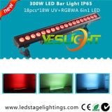 Luz ULTRAVIOLETA de la barra del LED 18PCS * 18W RGBWA + UV 6in1 CREE LED con, Ce, RoHS, UL