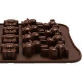 Certificado FDA Material de grado alimentario molde de silicona, en forma de pato /forma de osito/ Forma de Conejo Molde de budín de silicona molde Chocolate /