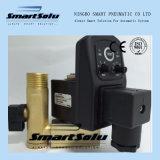 Compresor de aire de acción directa de la válvula de drenaje automático