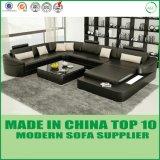 Canapé en cuir de salon de salon moderne (H2212)